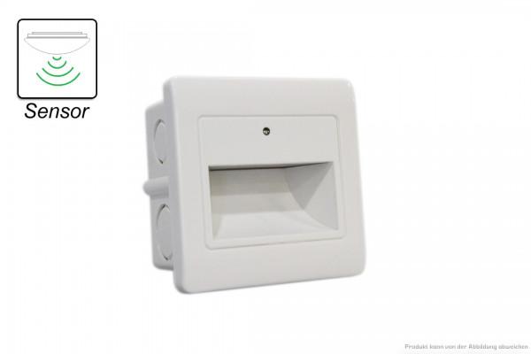 LED Wandeinbauleuchte - 1,5 W - SENSOR - 3000 Kelvin - 135 Lumen - weiß