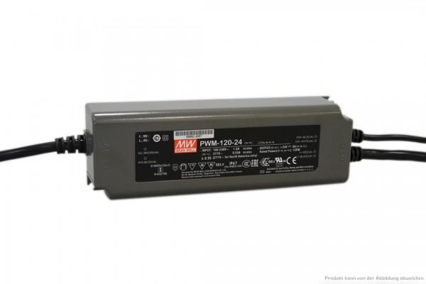 Dimmbares 24 V Netzteil für LED-Stripe - 120 Watt - dimmbar 1 - 10 V DC - IP 67