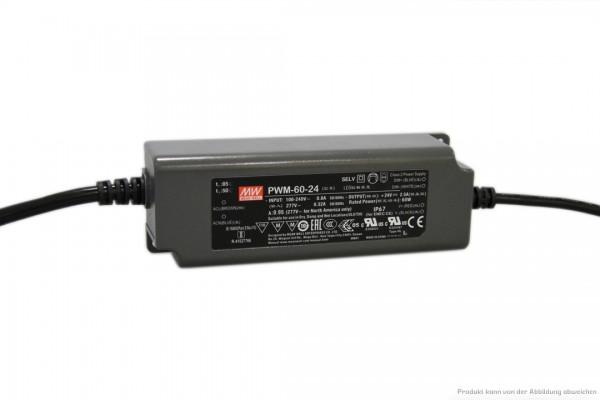 Dimmbares 24 V Netzteil für LED-Stripe - 60 Watt - dimmbar 1 - 10 V DC - IP 67