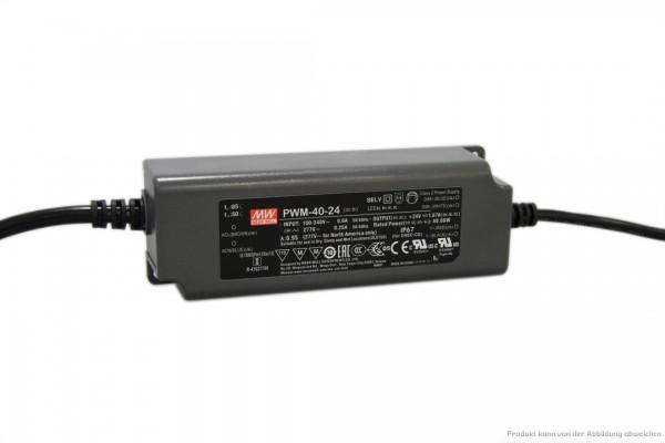 Dimmbares 24 V Netzteil für LED-Stripe - 40 Watt - dimmbar 1 - 10 V DC - IP 67