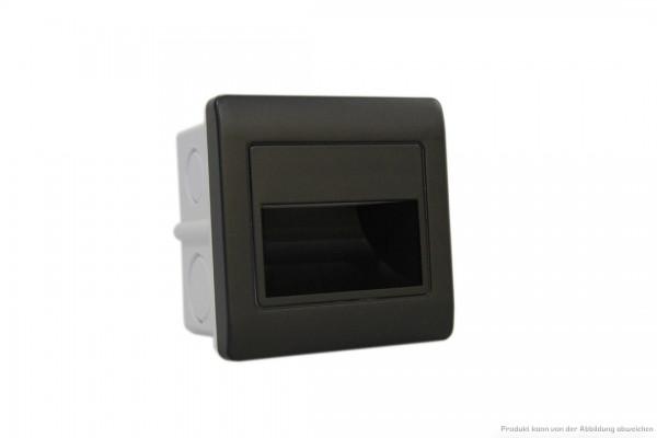 LED Wandeinbauleuchte - 1,5 Watt - 4200 Kelvin - 135 Lumen - schwarz