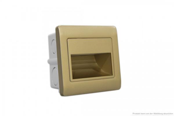 LED Wandeinbauleuchte - 1,5 Watt - 4200 Kelvin - 135 Lumen - gold