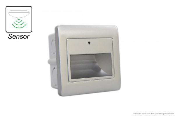 LED Wandeinbauleuchte - 1,5 W - SENSOR - 3000 Kelvin - 135 Lumen - silber