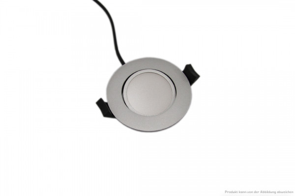 LED Downlight - 6 Watt - dimmbar - 3000 Kelvin - 520 Lumen - silber