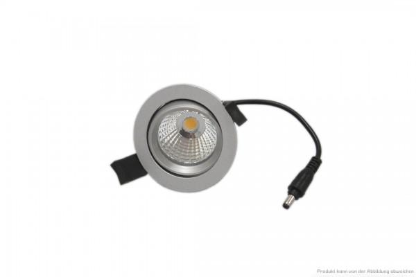 LED Einbaustrahler - 7 Watt - schaltbar 3000 Kelvin - 580 Lumen - silber