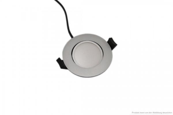 LED Downlight - 6 Watt - schaltbar - 4000 Kelvin - 550 Lumen - silber
