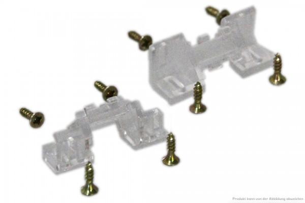 Aufbauprofil-Eckhalter-Set 45°schraubbar für Aufbauprofilschienen