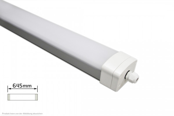 LED Feuchtraumleuchte - 20 Watt - 4200 Kelvin - 2100 Lumen - IP 66