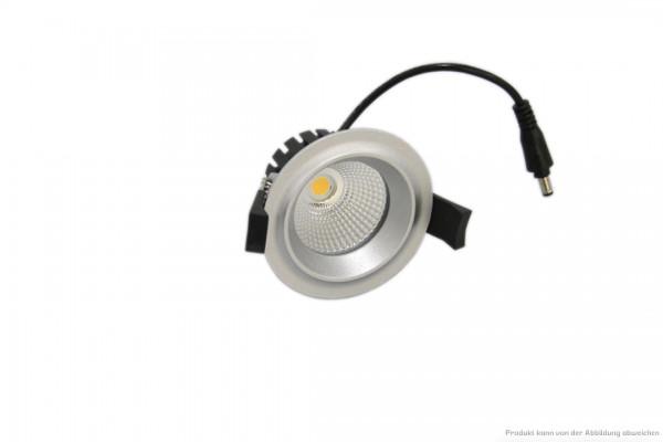 LED Einbaustrahler - 7 Watt - dimmbar 3000 Kelvin - 580 Lumen - silber