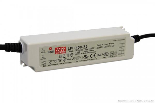 Vorschaltgerät dimmbar 1 - 10 V für LED Panelleuchte 40 Watt