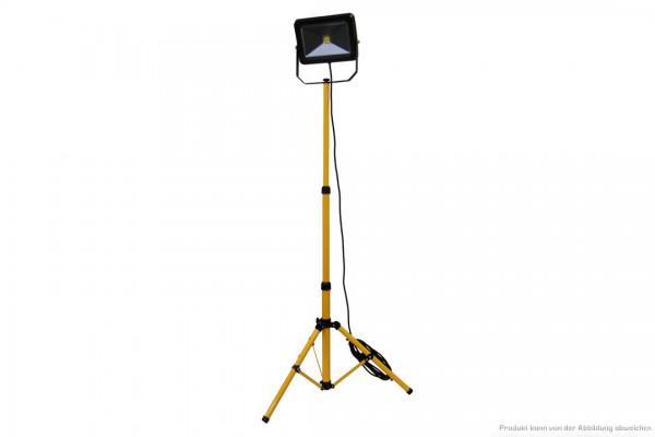 LED Baustellenstrahler - 50 Watt - 4000 Kelvin - 4400 Lumen - auf Stativ