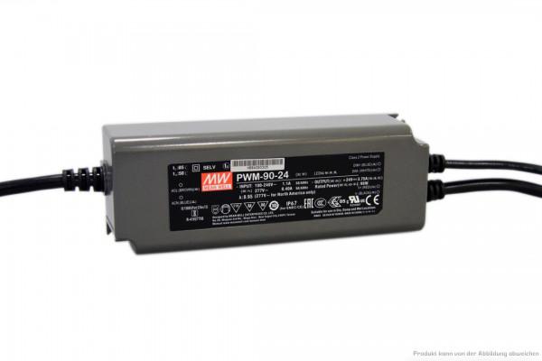 Dimmbares 24 V Netzteil für LED-Stripe - 90 Watt - dimmbar 1 - 10 V DC - IP 67