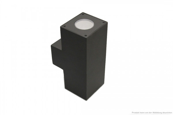 LED Wandleuchte - 6 Watt - schaltbar - 3000 Kelvin - 350 Lumen - anthrazit