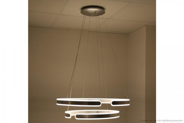 LED Pendelleuchte Ring - 77 Watt - 3000 Kelvin - U:2700lm D:2700lm - silber