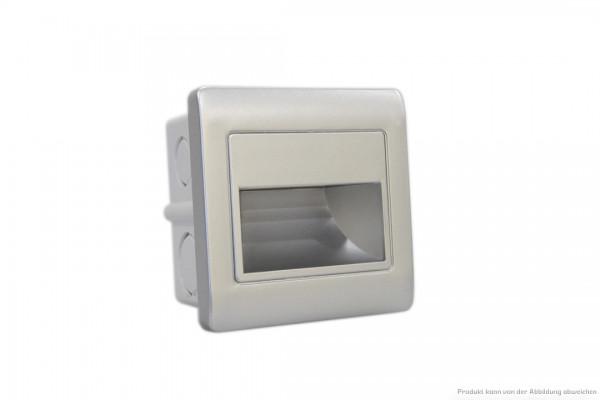 LED Wandeinbauleuchte - 1,5 Watt - 3000 Kelvin - 135 Lumen - silber