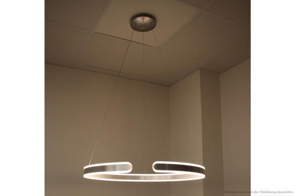 LED Pendelleuchte Ring - 42 Watt - 3000 Kelvin - U:1490lm D:1490lm - silber