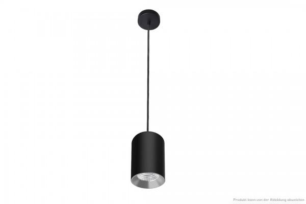 LED Zylinderpendelleuchte - 10W - dim. - 4000 Kelvin - 900lm - schwarz