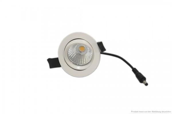 LED Einbaustrahler - 7 Watt - schaltbar 4000 Kelvin - 610 Lumen - weiß