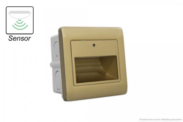 LED Wandeinbauleuchte - 1,5 W - SENSOR - 3000 Kelvin - 135 Lumen - gold