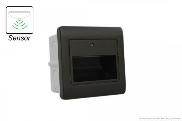 LED Wandeinbauleuchte - 1,5 W - SENSOR - 3000 Kelvin - 135 Lumen - schwarz