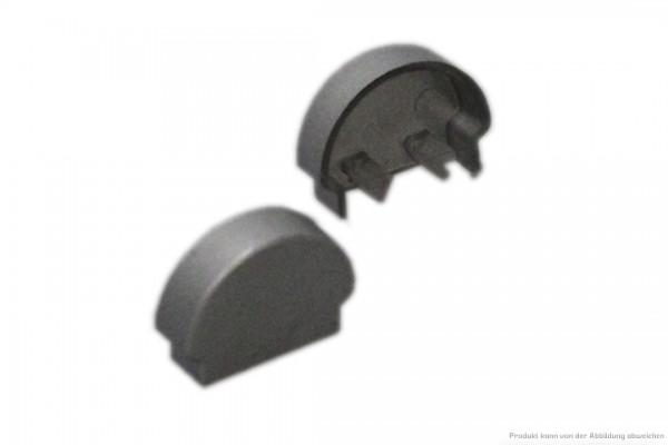 Endkappen-Set silber für Aufbauprofilschienen