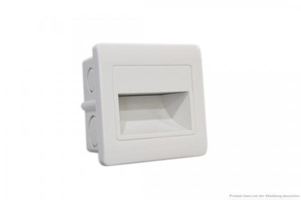 LED Wandeinbauleuchte - 1,5 Watt - 3000 Kelvin - 135 Lumen - weiß
